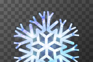 Colorful icy snowflake