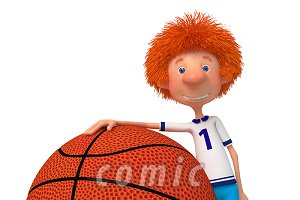 3d boy basketball player