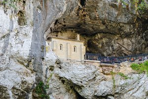 Holy cave in Covadonga