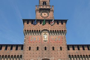 Sforza Castle in Milan