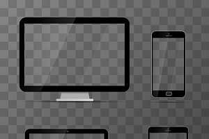 Mockups of monitor, laptop, phone