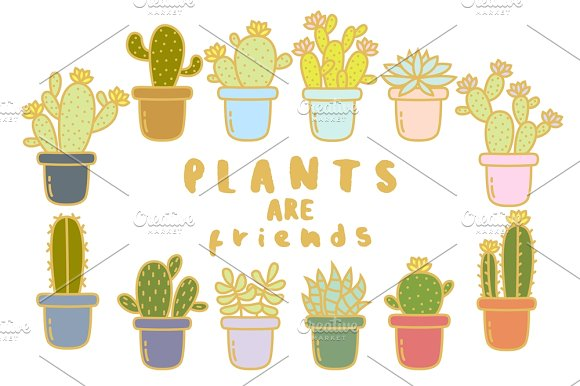 Plants are Friends set + stickers