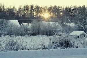 Winter sunrise view