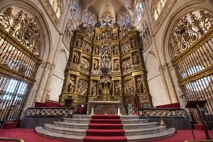 Interior of famous Burgos cathedral