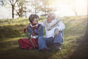Portrait Of Romantic Senior Couple