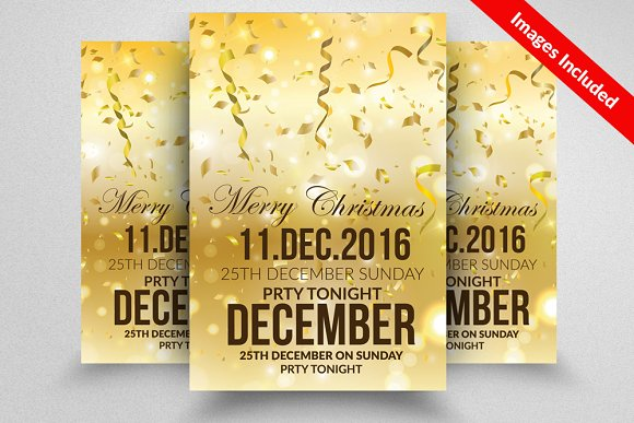 Christmas Event Flyer Template Flyer Templates on Creative Market – Event Flyer Templates