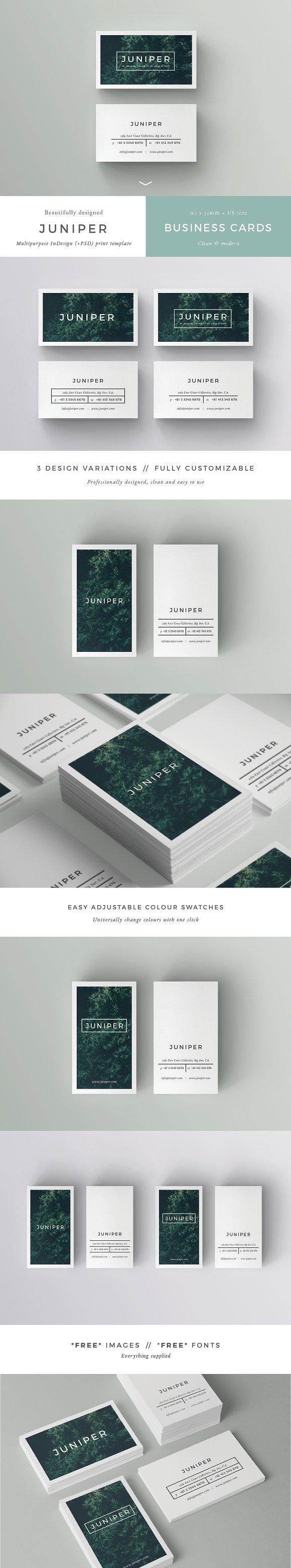 J U N I P E R Branding Bundle! ~ Stationery Templates ~ Creative Market