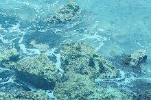 Teal Ocean Rocks