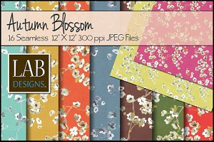 16 Autumn Cherry Blossom Textures