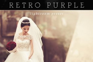 Warm Retro Purple Lightroom Preset