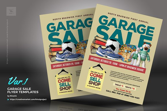Garage Sale Flyer Templates ~ Flyer Templates ~ Creative Market