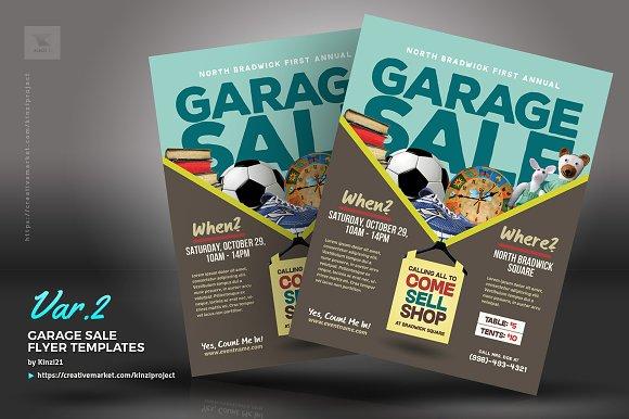 Garage Sale Flyer Templates Flyer Templates on Creative Market – Yard Sale Flyer Template