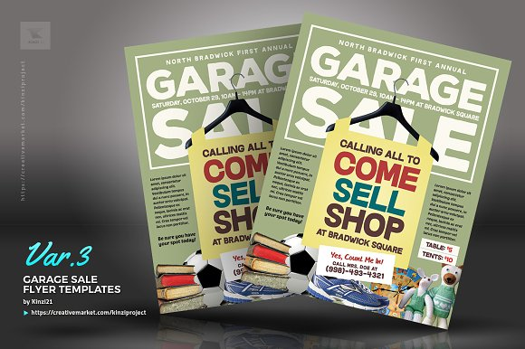 garage sale flyer templates flyer templates creative market
