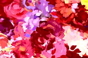 Painted Flowers Abstract