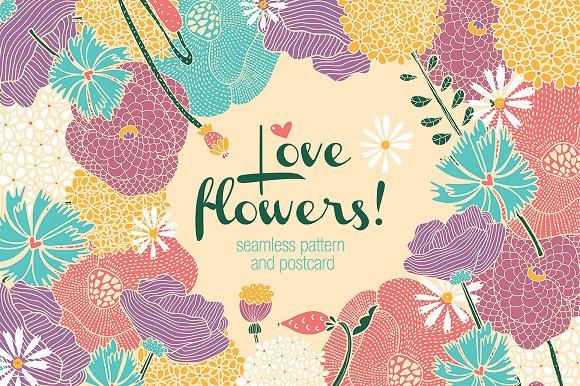 Flowers motif. Goodbye, summer! - Patterns