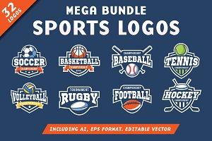 32 Sports Logos Bundle