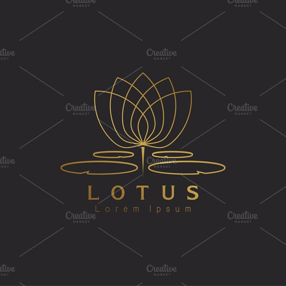 Lotus flower logo