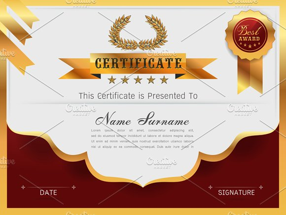 Graceful certificate template card templates creative for Certificate design template
