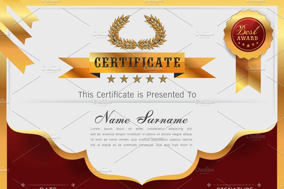 Graceful Certificate Template Card Templates Creative Market