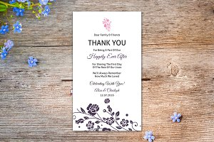 Wedding Thank You Table Card