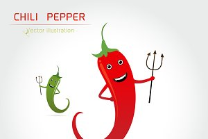 mascot cartoon Hot chilli pepper