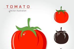Tomato Logo Vector illustration