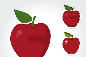 Apples fruit Vector illustration