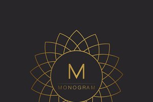 graceful monogram design templates