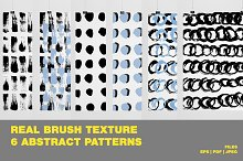 Real brush texture abstract patterns
