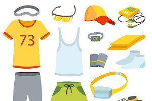 Sport Running clothes vector