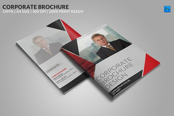 8 page corporate bifold brochure brochure templates creative market
