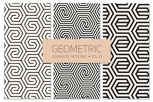 Geometric Seamless Patterns Set 13