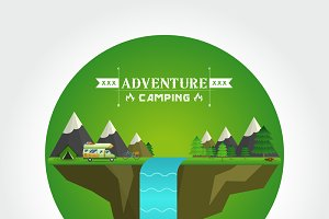 Hiking and camping Landscape