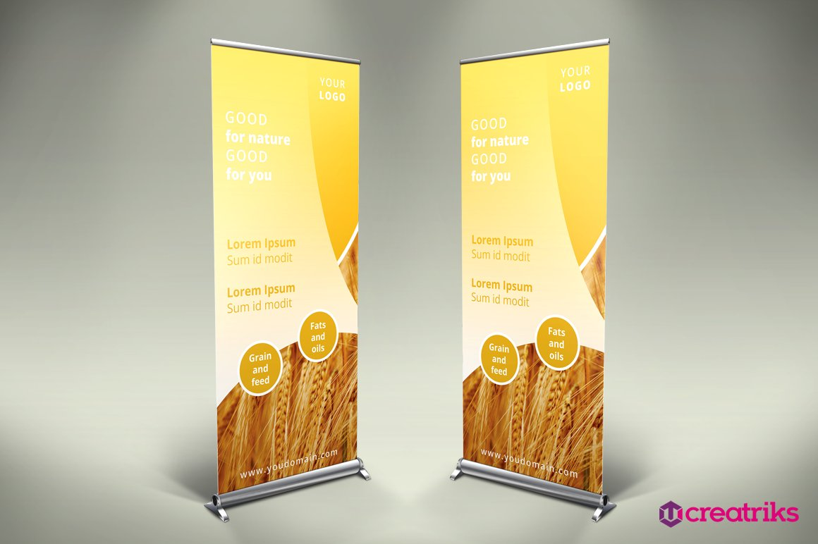 Agriculture Roll Up Banner