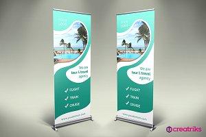 Travel Roll Up Banner - v012