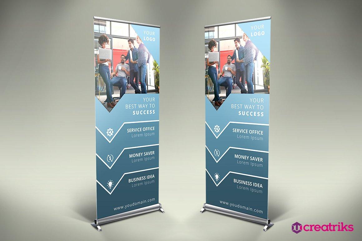 business roll up banner v013 presentation templates creative