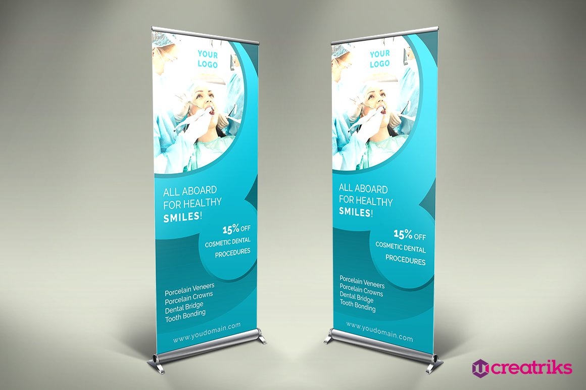 Dental Clinic Roll Up Banner V014 Other Presentation