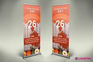 Thanksgiving Roll Up Banner - v015