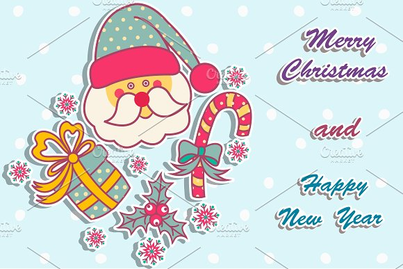 Sample Christmas cards Card Templates on Creative Market – Christmas Cards Sample