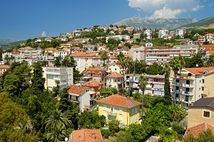 View of town Herceg Novi, Montenegro