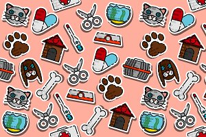 Colored veterinary pharmacy pattern