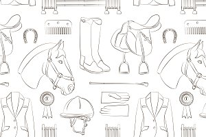 Horse riding pattern