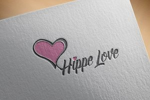 Hippe Love Logo Template