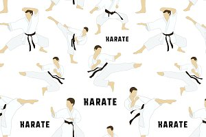 Karate set pattern