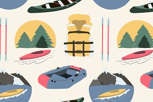 Rafting and kayaking pattern
