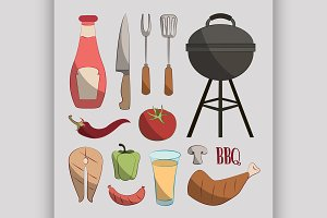 Set of barbecue