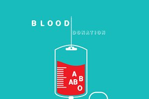 logotype blood donation