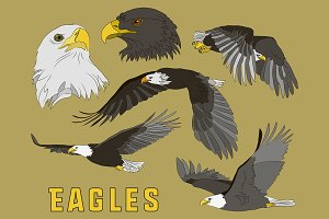 Set of eagles