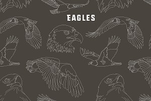 Set of eagles pattern