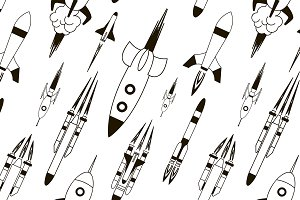 Set of rockets pattern